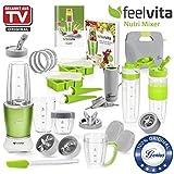 Genius Feelvita Nutri Mixer | 31 Teile | Stand-Mixer | Smoothie-Maker | Mixen | Rühren | 23000 UpM | 600 Watt | 1 Liter | Bekannt aus TV | NEU