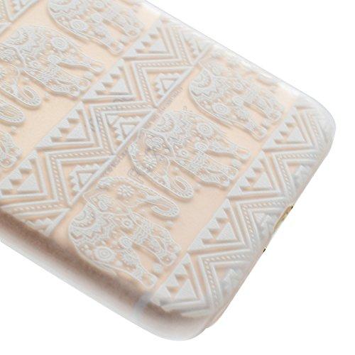 Custodia Cover iPhone 7/8 Bumper TPU Case, Ukayfe Trasparente Crystal Caso Cover Custodia Bumper Morbida TPU Silicone Gel Gomma Flessibile Sottile Fina Invisibile Ultra Thin Slim per iPhone 7/8 con St Elefante