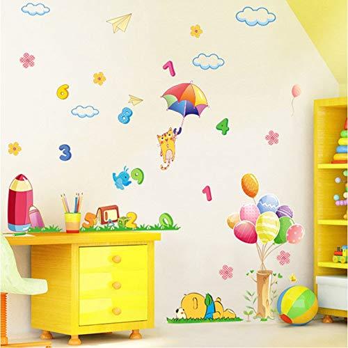 Diy hauptdekoration cartoon neue nette bär ballon charakter kinder wandaufkleber kinderzimmerapplique aufkleber