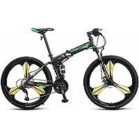 YEARLY Montaña bicicleta plegable, Adultos bicicleta plegable Off-road Amortiguador de choque doble Cola