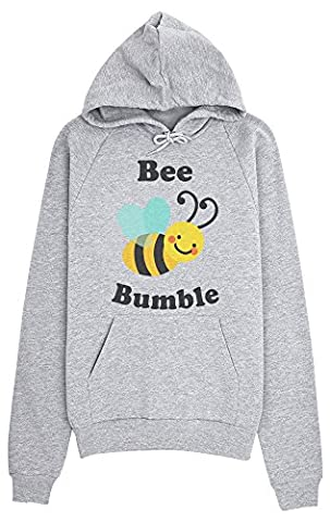 Bee Bumble Awesome Flying Bee Design Women's Hoodie Pull à capuche pour femmes Medium