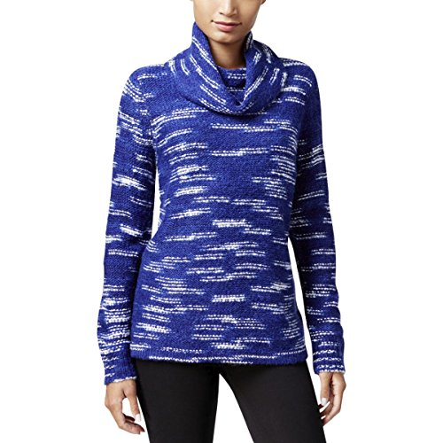 Blue Cowl Neck (kensie $89 Womens New 1158 Blue Cowl Neck Long Sleeve Casual Sweater L B+B)