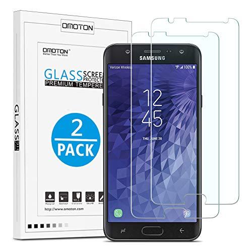 OMOTON [2 Stück] Panzerglas Schutzfolie für Samsung Galaxy J7 Duo 2018, Anti- Kratzer, Bläschenfrei,9H Härte, HD-Klar, [2.5D R&e Kante]