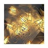 YLYWCG Outdoor Luci della Stringa LED, Impermeabile Giardino Si Illumina for La Veranda, Cortile, Cafe, Wedding (Color : 3 m 20 Lamp Battery)