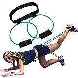 5BILLION Fasce per il bottino Fasce di resistenza - per un Bikini Butt Glutes Cintura muscolare Cintura regolabile con borsa per il trasporto e una guida completa all'allenamento (Verde)