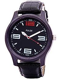 Pulse Analog Black Dial Men's Watch - PL0307