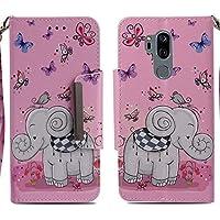 Handyhülle LG G7 ThinQ,HUDDU Elefant Schmetterling Muster Schutzhülle LG G7 ThinQ Hülle Flip Leder Tasche Slim... preisvergleich bei billige-tabletten.eu