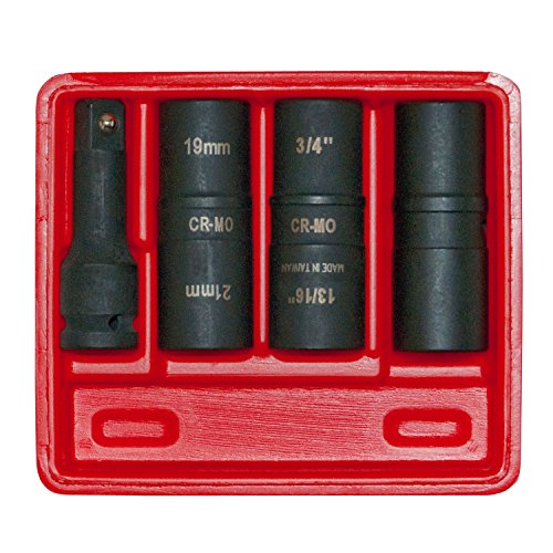 Sae Socket (OEMTOOLS  24223 1/2 Inch Impact SAE and Metric Flip Socket Set, 4-Piece)