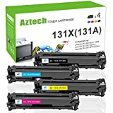 Aztech 4 Pack Kompatibel für HP 131A 131X HP CF210X CF211A CF212A CF213A CF210A Toner für Toner HP Laserjet Pro 200 Color M251n M251nw HP Laserjet Pro 200 Color MFP M276nw M276n Toner
