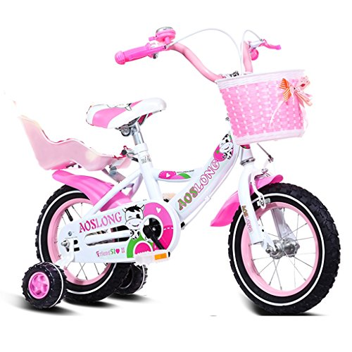 Children\'s bicycles CivilWeaEU- Kind Fold Fahrrad 3-6-8 Jahre Old Baby Kinderwagen 12 Zoll 14 Zoll 16 Zoll 18 Zoll Bike (Farbe : Pink 3, größe : 16Inch)