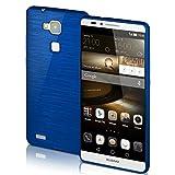 Huawei Mate 7 Hülle Silikon Blau [OneFlow Brushed