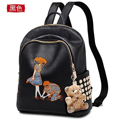 LiZhen Double-borse tracolla pacchetti femmina la nuova marea pu coreano personalità elegante e versatile Ms. mini zaino estate di amare le loro ginocchia Per amore < Bow