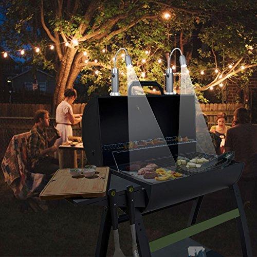 51vq3i7gcbL - LANUCN LED Grilllicht/Magnetfuß 360 Grad einstellbar BBQ Licht/Einstellbarer Fokus Zoom Licht Lamp / IP44 Wetterbeständig Outdoor Grill Licht/Grillzubehör lichtlampe