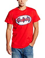 DC Comics Men's Batman Japanese Logo 2 Short Sleeve T-Shirt, Red, XX-Large
