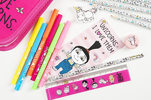 I-love-Unicorns-Despicable-Me-Minions-3D-Unicorn-Filled-Pencil-Case-with-Colouring-Pens-Colouring-Pencils-Eraser-Ruler-Perfect-back-to-school-accesories-Beautiful-Unicorn-Pencil-Case