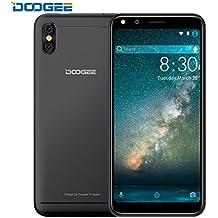 "Moviles Libres Baratos, DOOGEE X53 Moviles Libres, Dual SIM 5.3"" + 18:9 HD Pantalla Android 7.0 Telefonos - MT6580M - 16 GB ROM - Dual Cámara 5.0MP - 2200mAh - Bluetooth - GPS -Negro"