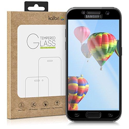kalibri-Echtglas-Displayschutz-fr-Samsung-Galaxy-A3-2017-3D-Schutzglas-Full-Cover-Screen-Protector-mit-Rahmen-in-Schwarz
