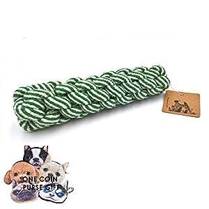 petfun Coton naturel chewer de dentition Jouet pour chiot, Petite et Moyenne dogs-green et bleu