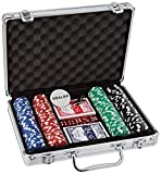 Ak Sport 0603014Juego de póquer maletín de Aluminio de 200Piezas