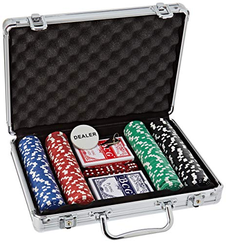 AK Sport 603014 Poker Set Alu Koffer 200-tlg, Aluminium