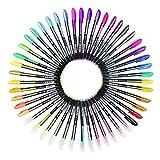 Ciaoed Set di 48 Penne Gel Glitter Multicolore Colorate Penne Roller per Colorazione, Pittura, Disegno, Scarabocchiare e Abbozzare