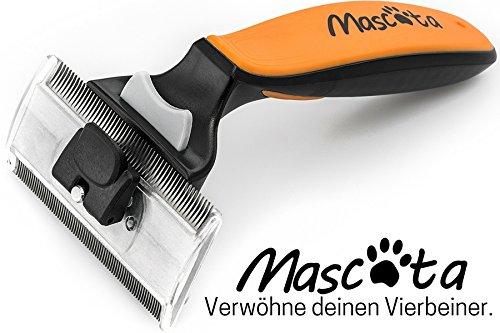 Mascota® Premium Hundebürste | 2 in 1 | Effektives Entfernen von Unterwolle | Unterwollbürste + Fellbürste + Hundekamm | Kurzhaar & Langhaar