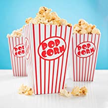 20x Popcorn Tüte rot-weiß gestreift - 15 x 10 cm - Popcorn Box für Kinoabend, Hollywood Party & Co - PARTYMARTY GMBH®