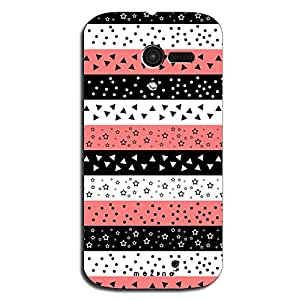 Mozine Pink Triangle Pattern printed mobile back cover for Motorola Moto X 1...
