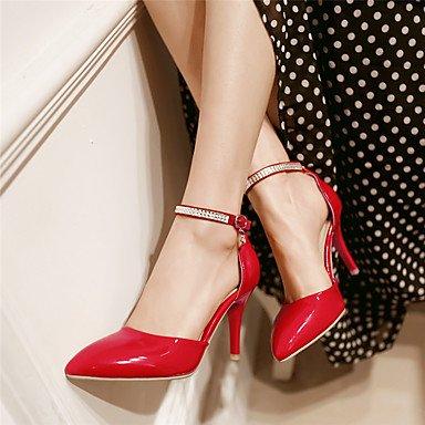 LFNLYX Donna Sandali Primavera Estate Autunno altri cuoi Party & serata informale Stiletto Heel fibbia di strass Rosa Rosso Bianco Red