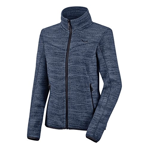 Salewa Fanes Herringbone Fleece Damen Fleecejacke, Dark Denim Melange, 40