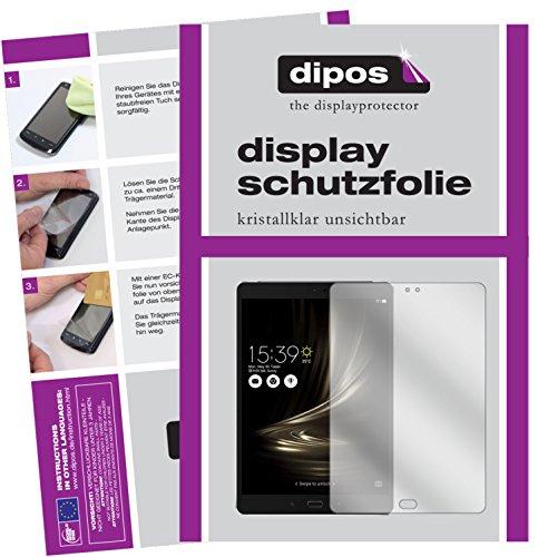 dipos I 2X Schutzfolie klar passend für Asus ZenPad 3S 10 LTE (2017 / Z500KL) Folie Bildschirmschutzfolie