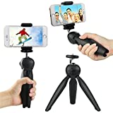 #8: 100% Original Universal Mini Mobile Tripod YT - 228 | Monopod | Adjustable Selfie Stick | 360° Rotating Ball | For Digital Camera & All Android | Iphone | Samsung | Lenovo | Micromax | Oppo | Vivo | Moto | One Plus | Xiaomi With Mobile Clip Holder - Black Lance Edition