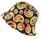 Wooly Bugged Herren Strandhut Emoji aus Baumwolle UV Schutz Schwarz
