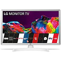 """LG 24TN510S- WZ - Monitor Smart TV de 60 cm (24"""") con Pantalla LED HD (1366 x 768, 16:9, DVB-T2/C/S2, WiFi, Miracast, 10 W, 2 x HDMI 1.4, 1 x USB 2.0, óptica, LAN RJ45, VESA 75 x 75), Color Blanco"""