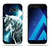 FUBAODA Funda Samsung Galaxy A5 2017/A520F Carcasa de Silicona Transparente TPU, Resistente a...