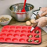Meiso Silikon-Mini-Muffin- und Cupcake-Backform