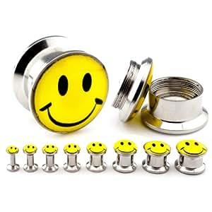 PLUG Lobe Smiley Flesh Tunnel Stopfen Plugs - Wähle deine Wunschgröße in mm