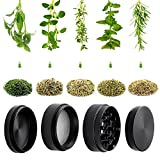 from PPpanda Herb Grinders, PPpanda Grinder for Dry Herb and Tobacco Portable Zinc Alloy Mental Grinder,Black,5x4cm/2x1.6inch