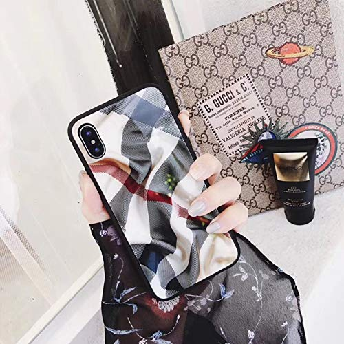 FENGT Apple Phone Case FüR iPhone XS Max/XS/Xr / 8/7/6 Plus PersöNlichkeit Kreatives Gitter Plisseeglas Telefon Fall Fallschutz Abdeckung,iPhone8/7 (Plus Kreative Fällen Iphone 6)