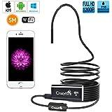 Endoscopio,CrazyFire 1200P Full HD WiFi Telecamera di Ispezione,iOS Android Video Snake Camera per iPhone, Samsung, Tablet PC