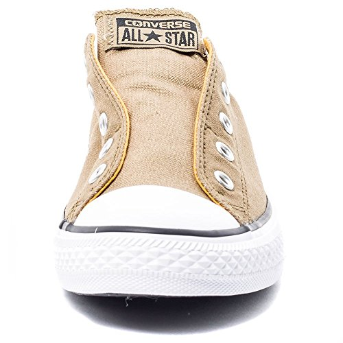 Converse Chucks enfants 651765C All Star Slip Kaki Kaki Sandy solaire d'Orange Grün