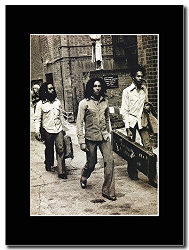 Bob Marley-Bob & due Walters Magazine Promo su un supporto, colore: nero