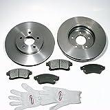 Autoparts-Online Set 60003711 Bremsscheiben/Bremsen (15 Zoll Felge) + Bremsbeläge Vorne