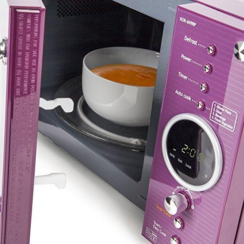 Daewoo KOR6N9RP - Forno a microonde, 800 Watt, 20 Litri, Viola