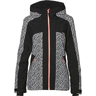 O'Neill Women's Allure Snow Jacket, White/Black, Medium
