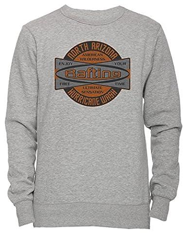 North Arizona Unisex Herren Damen Jumper Sweatshirt Pullover Grau Größe S Men's Women's Grey Small Size S