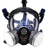 Babimax Respirador de Cara Completa Máscara con Gafas Anti-polvo para Pintura Industrial Chemical