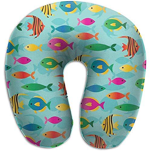 Like-like Cartoon Fish Silhouette Funda Almohada Cuello