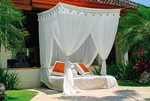 Mokito Klassischer Betthimmel Moskitonetz Big Sky 160. Baldachin und Mückenschutz für Doppelbetten. Perfekter Mücken- und Insektenschutz.