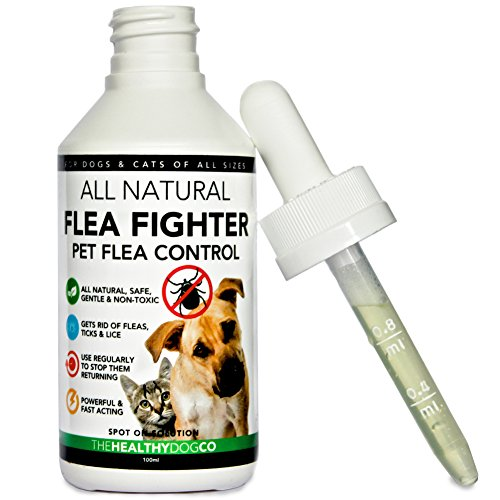 Vollkommen Natürliche Behandlung und Vorsorge bei Tierflöhen   Flea Fighter   Die beste Lösung für Hunde und Katzen   1-Jahres Menge   Wirksame und sichere Formel   Beseitigung, Schutz vor und Kontrolle bei Flöhen, Zecken und Läusen